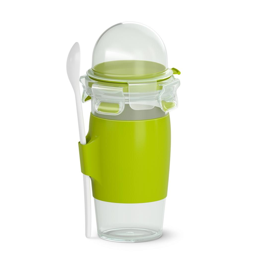 Fľaška na jogurt s hrnčekom a lyžičkou Master Seal To Go 450 ml