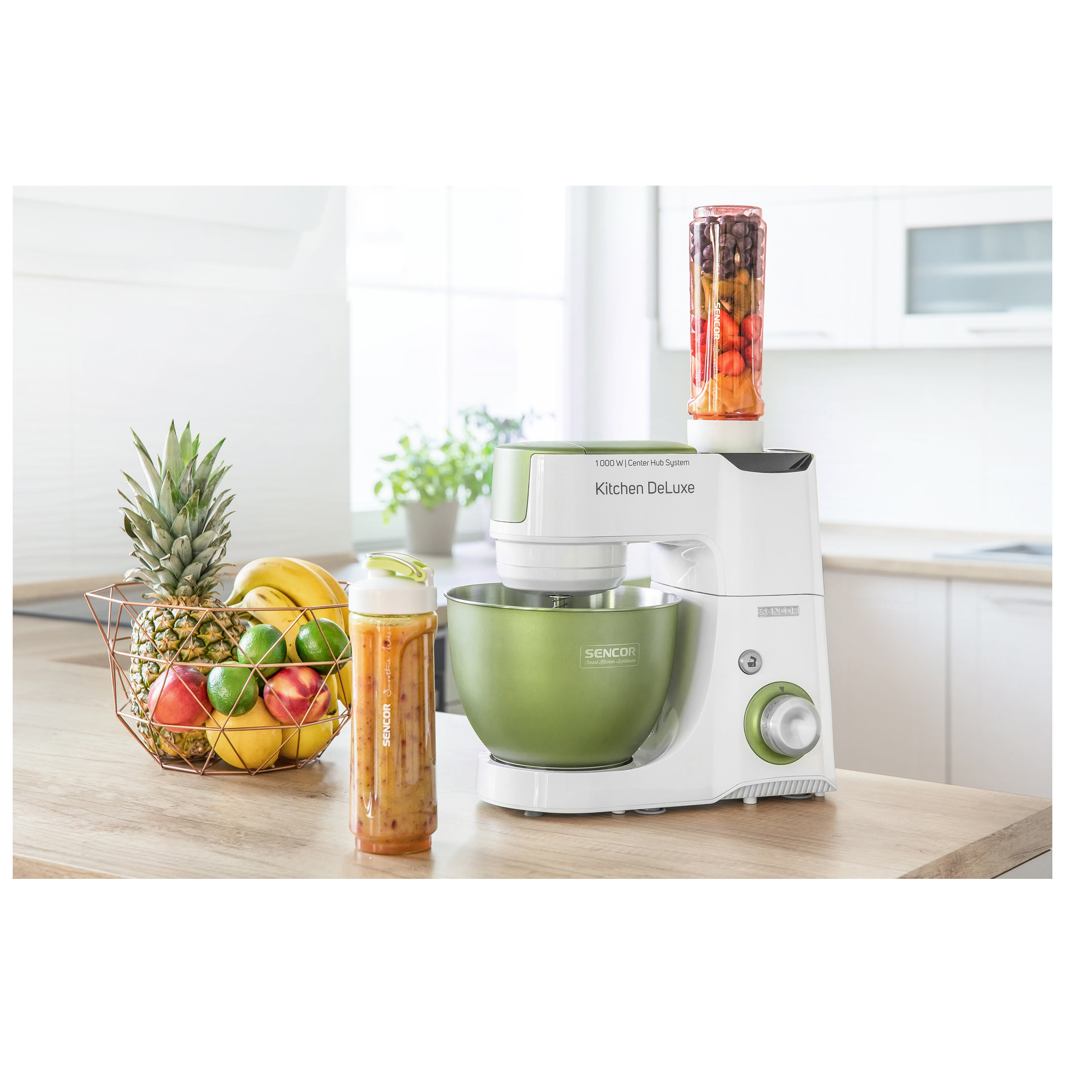 Kuchynský robot SENCOR STM 4460GG zeleno-biely