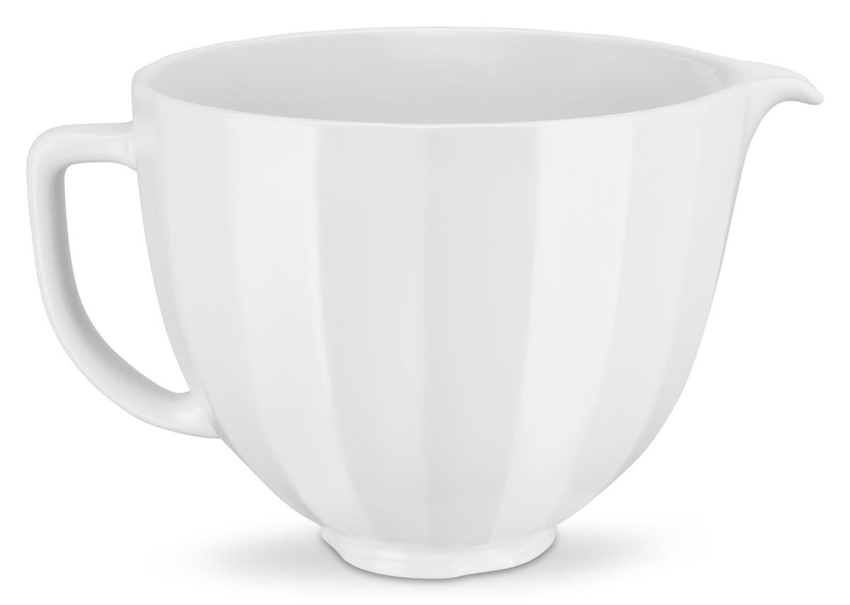 Keramická misa KitchenAid 5KSM2CB 4,83 l biela vrúbkovaná