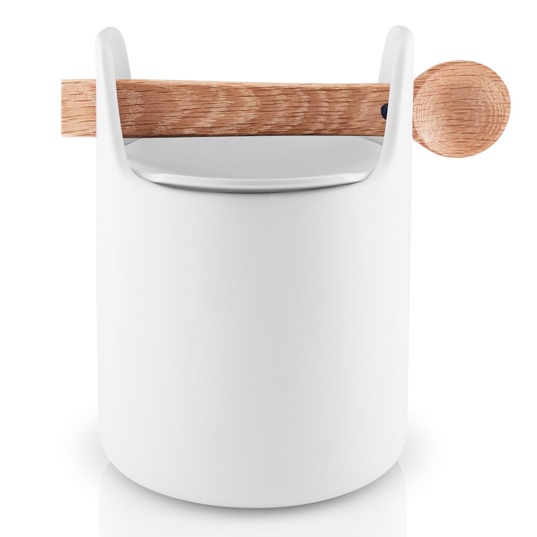 Dóza na potraviny s drevenou lyžičkou biela Eva Solo