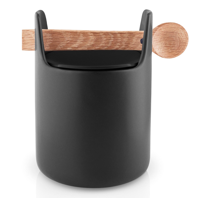 Dóza na potraviny s drevenou lyžičkou čierna Eva Solo