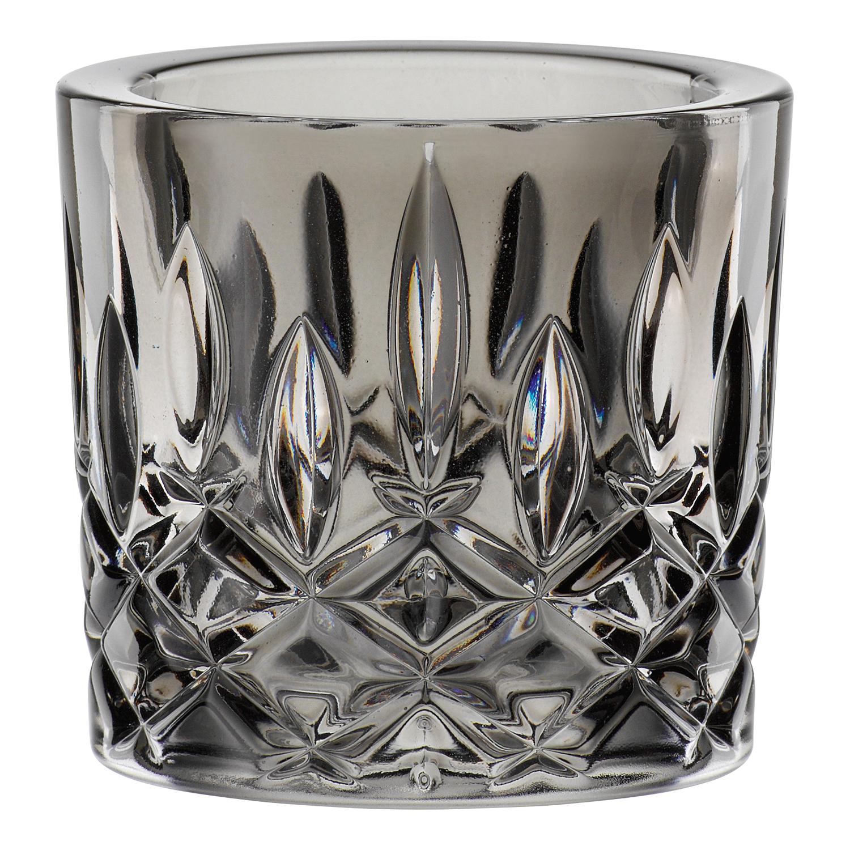 Svietnik na čajovú sviečku dymové sklo Noblesse