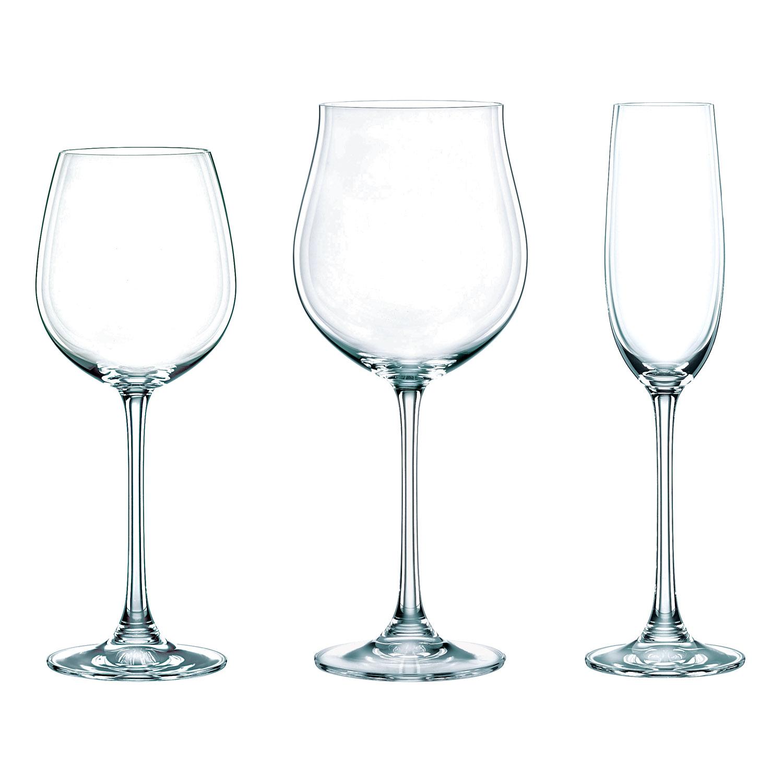 Výhodné balenie 18 kusov pohárov na červené víno/biele víno/šampanské Vivendi Premium