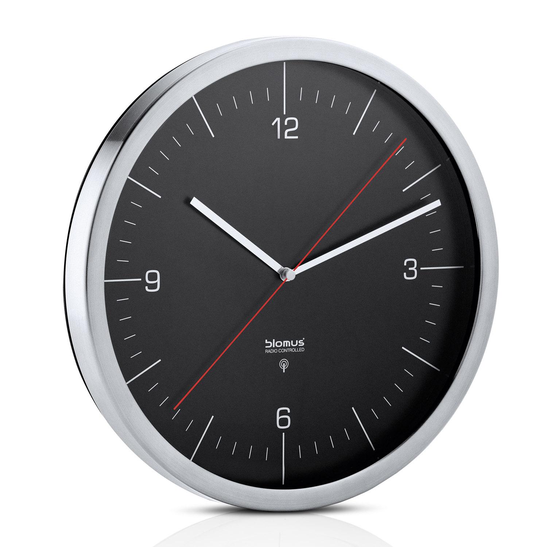 Nástenné hodiny CRONO čierne Ø 30,5 cm Blomus