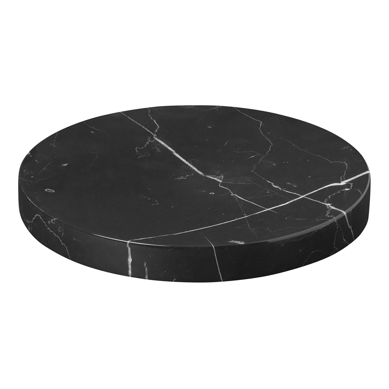 Podložka / tanierik mramorový stredný PESA čierny