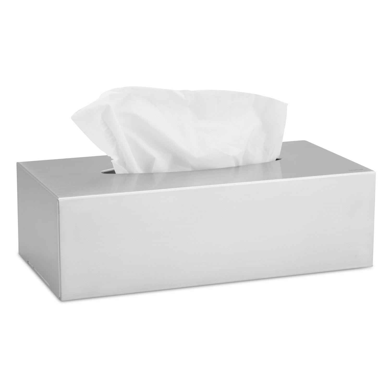 Box na papierové vreckovky matná nehrdzavejúca oceľ NEXIO