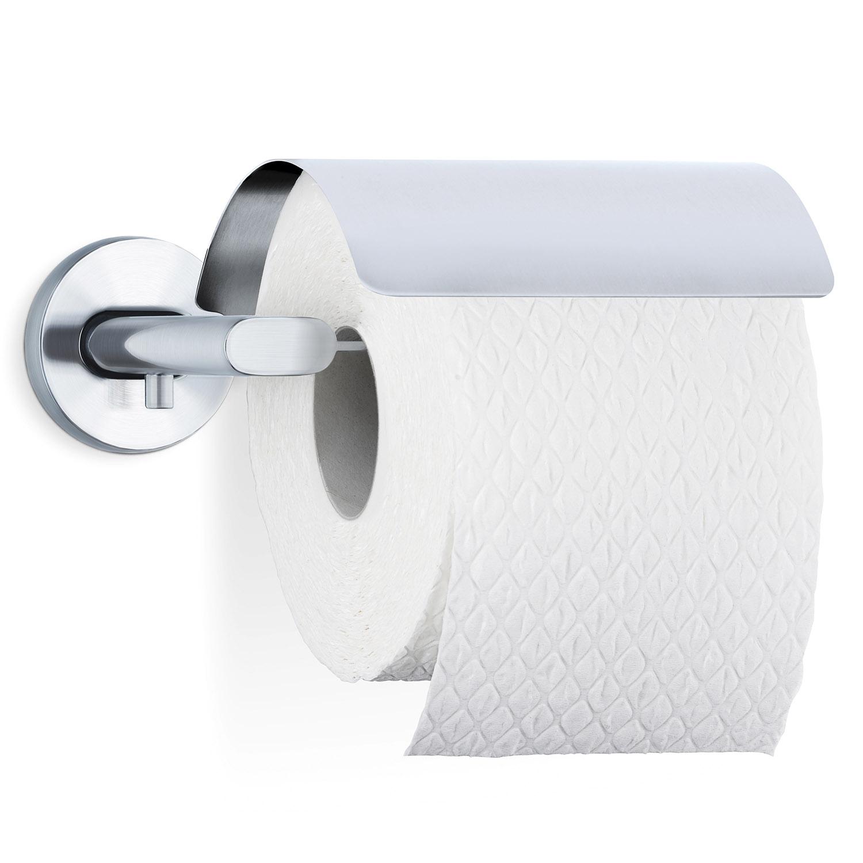 Držiak toaletného papiera s krytom matná nehrdzavejúca oceľ AREO
