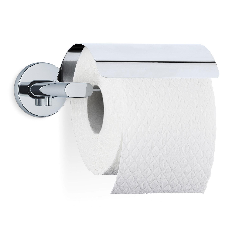 Držiak toaletného papiera s krytom leštená nehrdzavejúca oceľ AREO