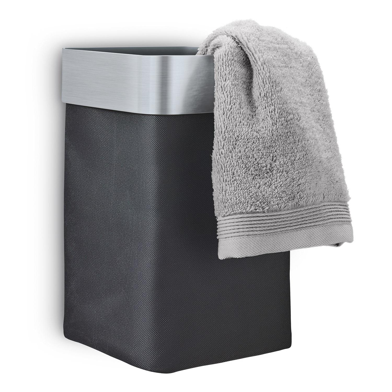 Nástenný kôš na uteráky/bielizeň antracitový matný NEXIO
