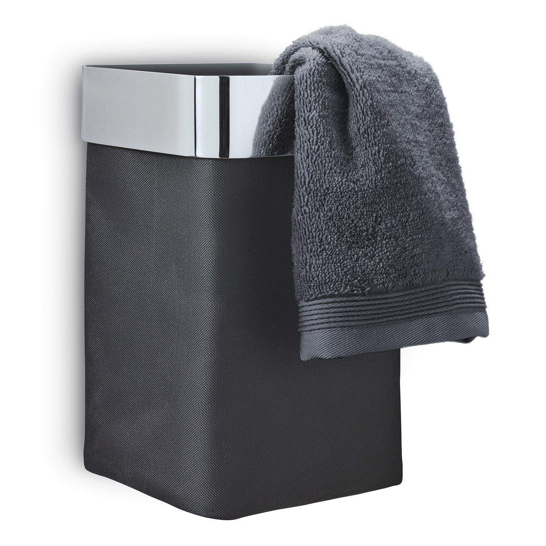 Nástenný kôš na uteráky/bielizeň antracitový leštený NEXIO