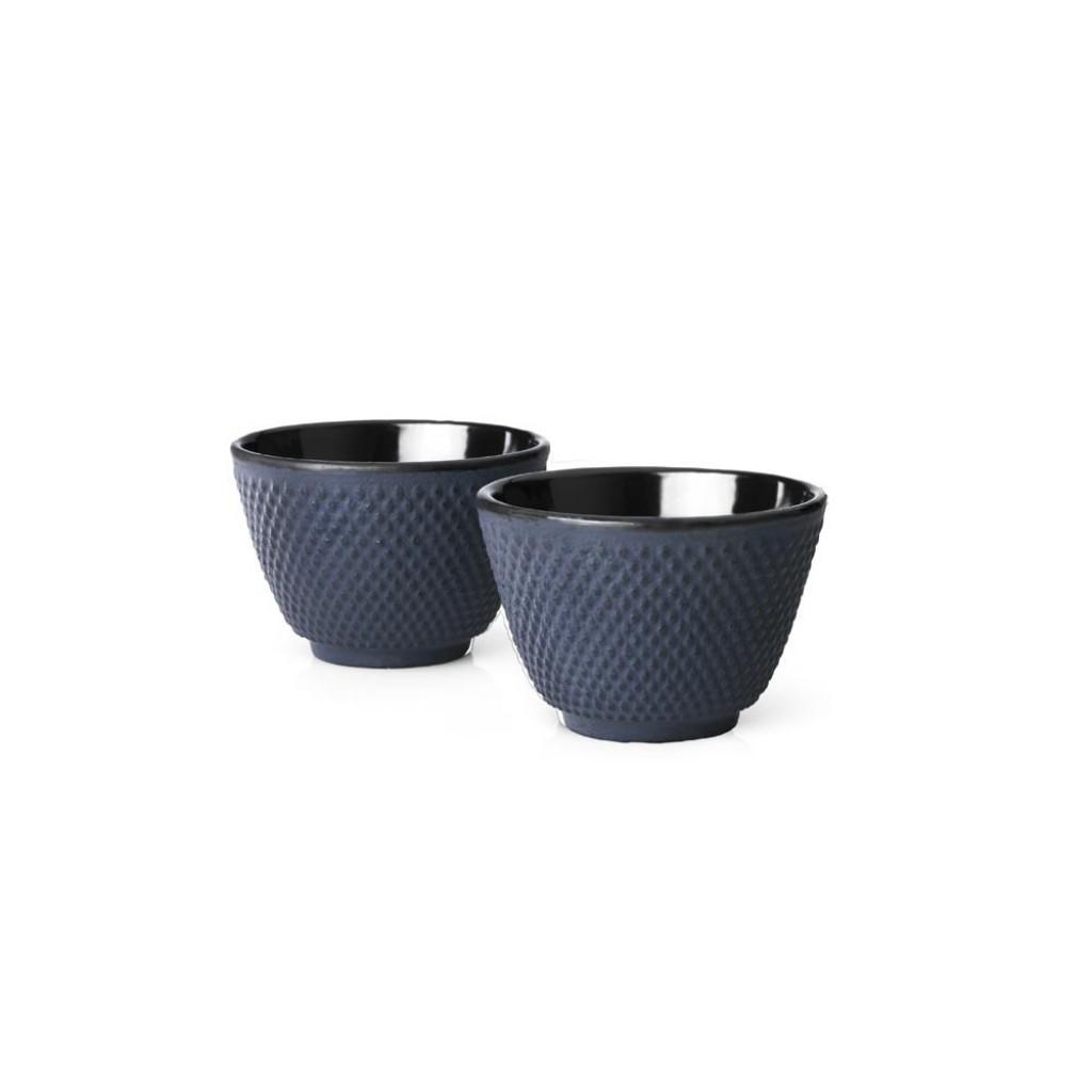 Sada liatinových hrnčekov na čaj Xilin Bredemeijer modrá 2 ks