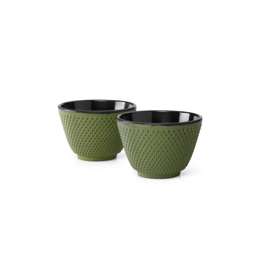 Sada liatinových hrnčekov na čaj Xilin Bredemeijer zelené 2 ks