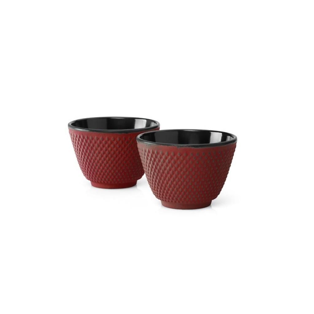 Sada liatinových hrnčekov na čaj Xilin Bredemeijer červené 2 ks