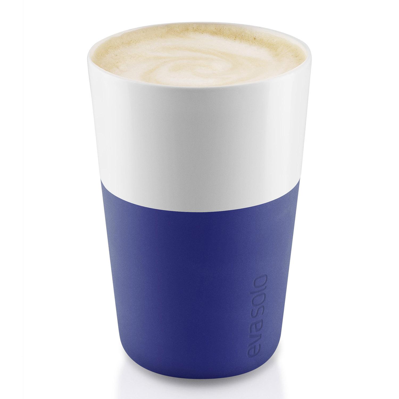 Termohrnčeky na café latte 360 ml 2 kusy tmavomodrá Eva Solo