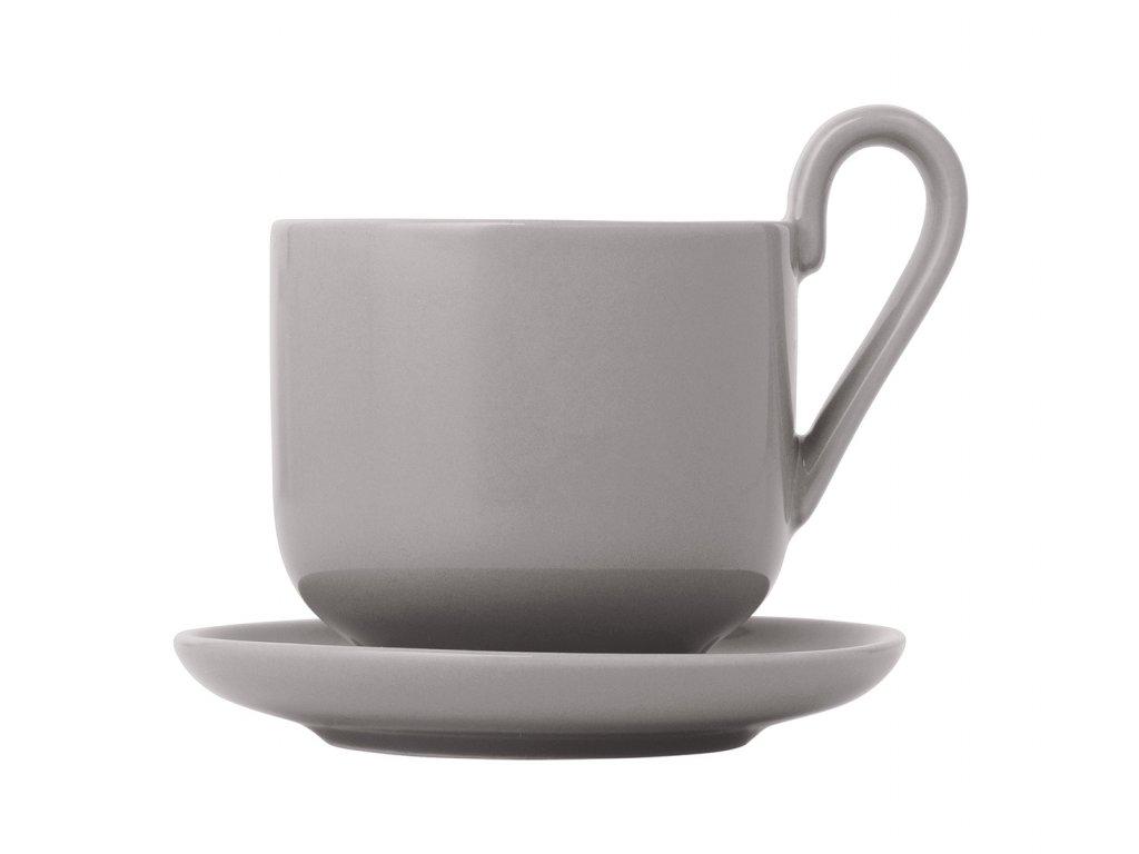 Sada šálok na espresso s podšálkami Ro Blomus hrejivo šedé 2 ks