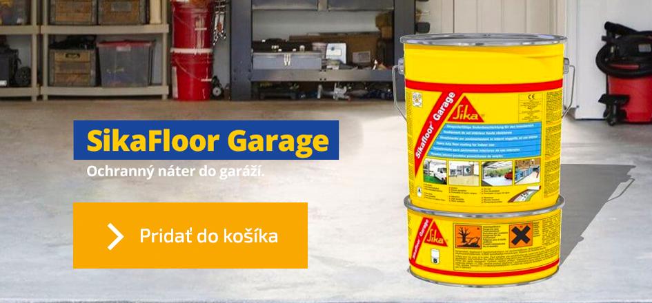 Sikafloor Garage, farebný protiprašný náter do garáže
