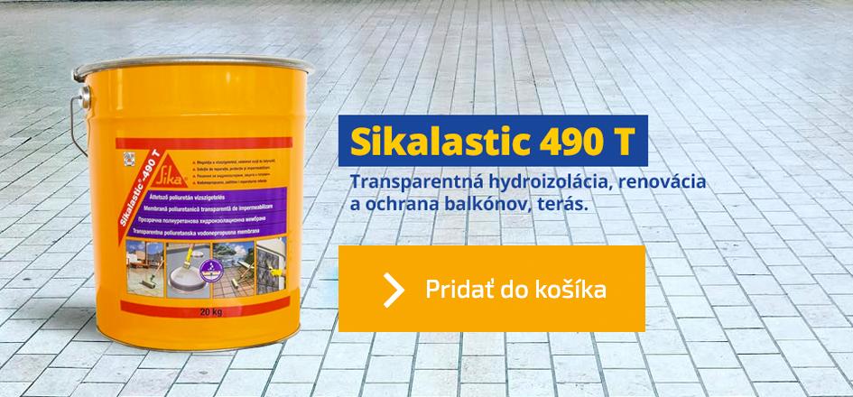 Sikalastic-490 T, 5kg - vodotesný transparentný náter na balkóny a terasy