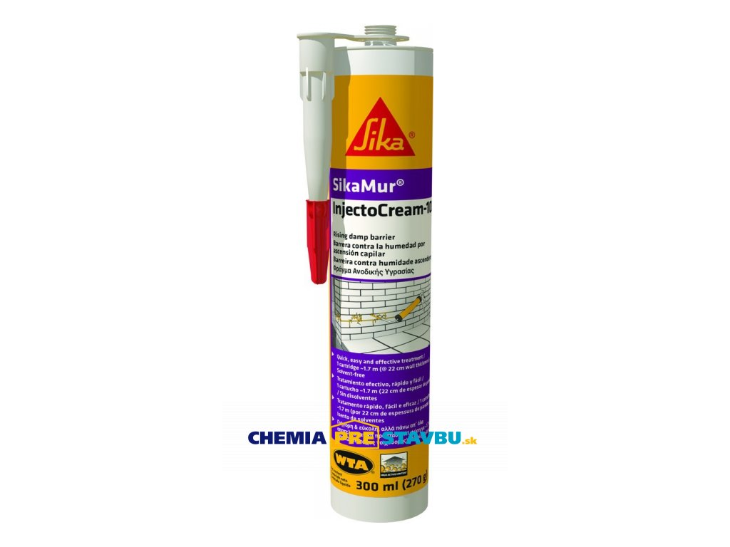 SIKA SikaMur-InjectoCream-100 - injektážny krém do vlhkého muriva
