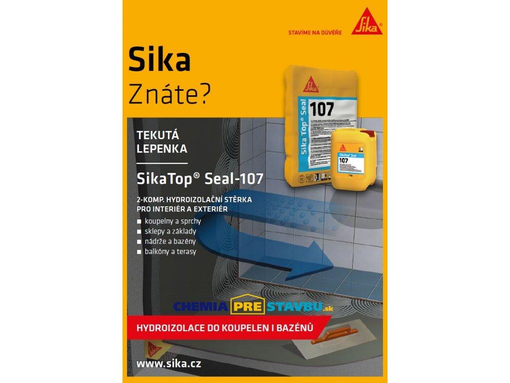 SikaTop Seal 107 Bucket 25kg, sivá - Tesniaca cementová stierka určená pre hydroizolácie