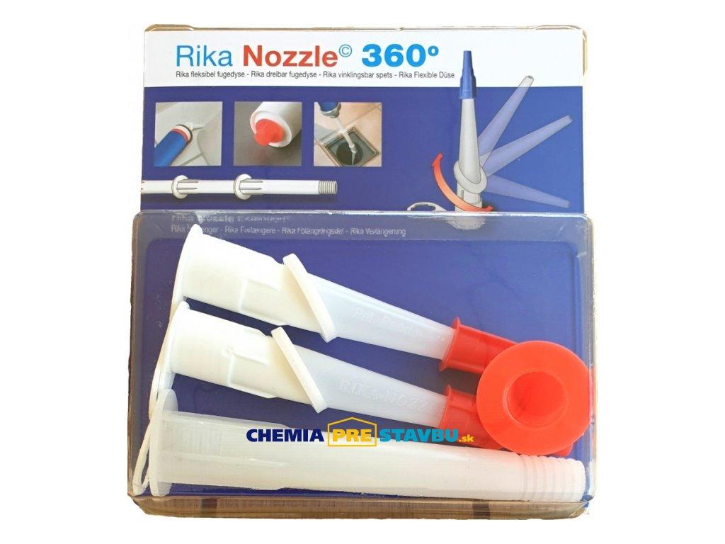RIKA flexibilné špičky - pomocník pre tmelenie a lepenie ťažko prístupných detailov