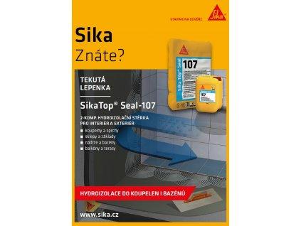 SikaTop Seal 107, 25kg - cementová stierka určená pre hydroizolácie