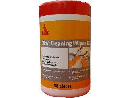 Sika Cleaning Wipes 100 - čistiace obrúsky na ruky aj náradie 50ks