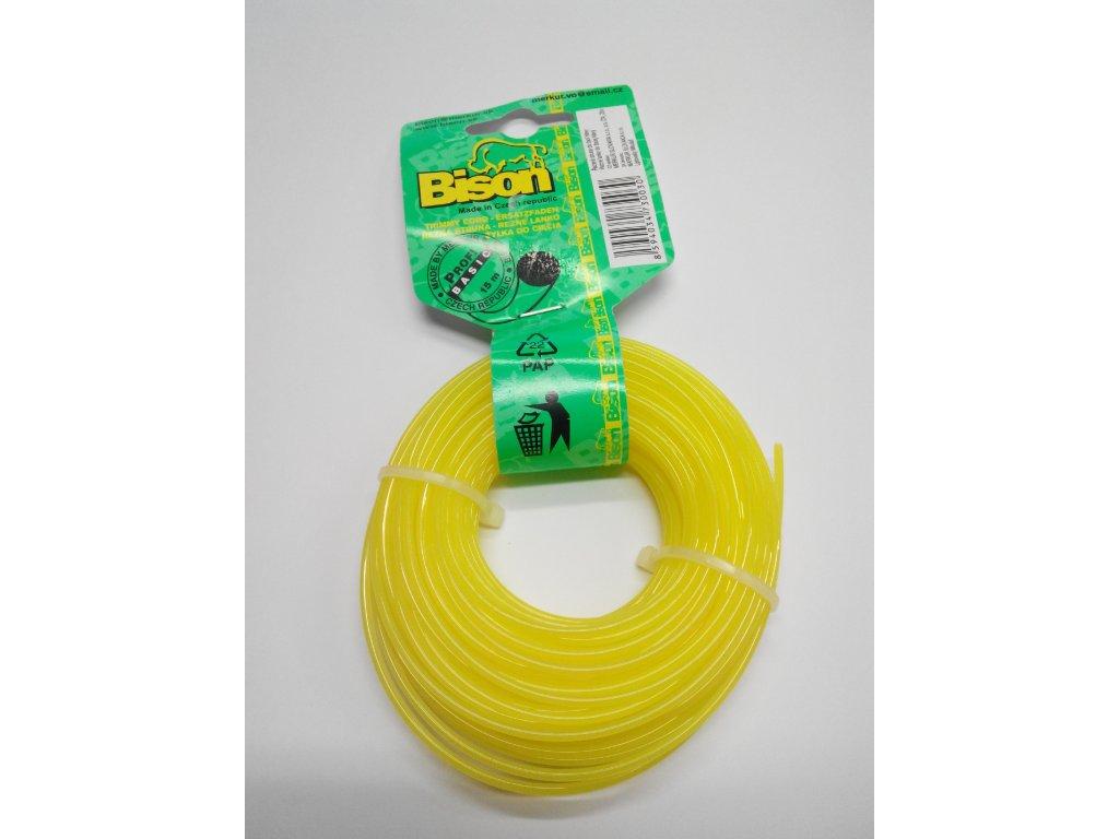 Struna BISON Žlutá hobby 2,4mm 15m