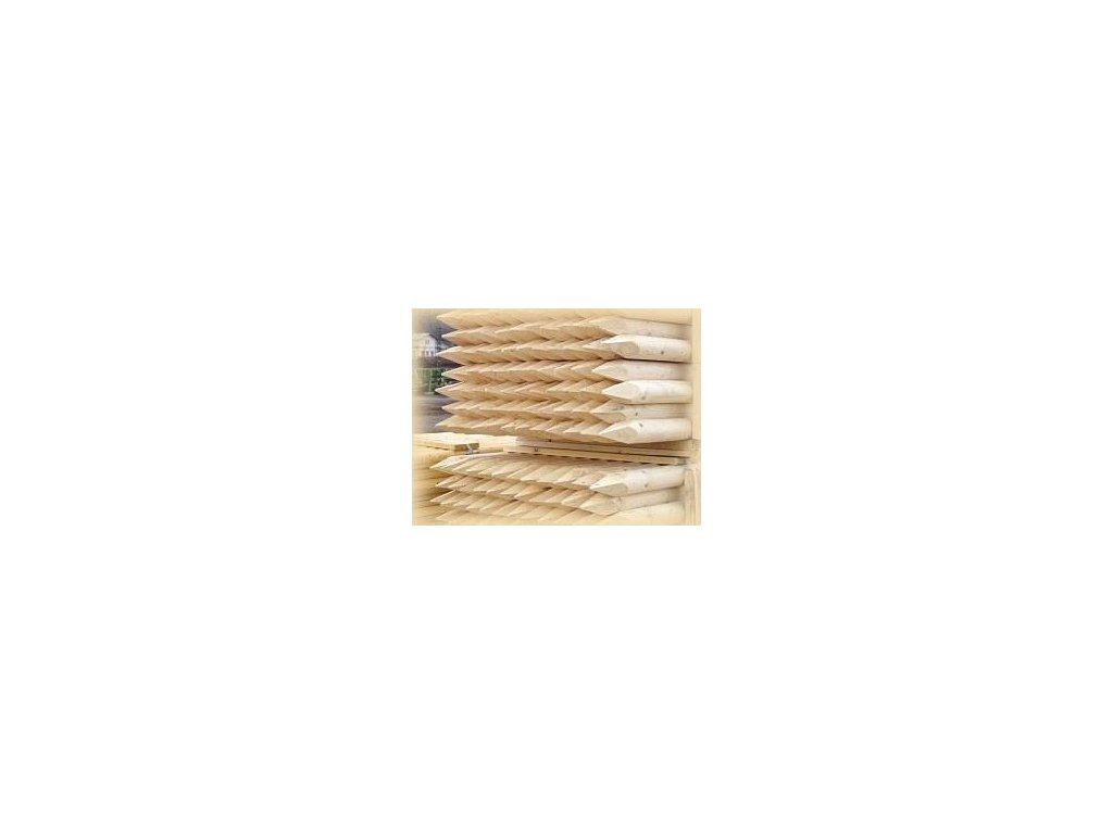 Kůl dřevěný SE ŠPICÍ  5 x 250 cm