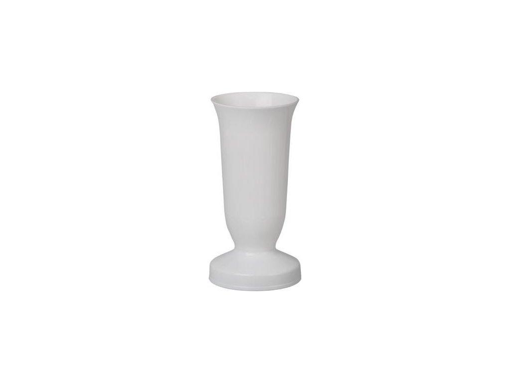 Váza hřbitovní KALICH 12x24 bílá