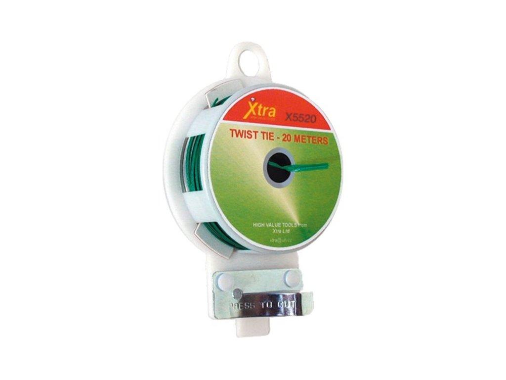 Vázací drát 20m s PVC ochranou