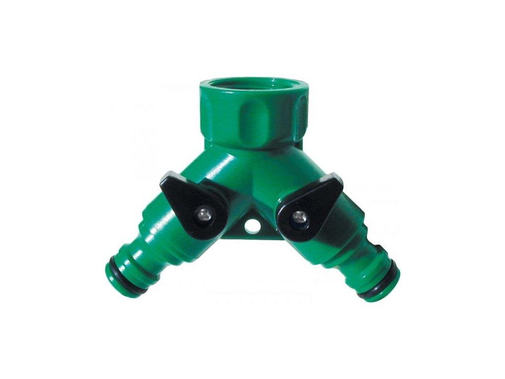 Konektor dvojitý s ventily plast