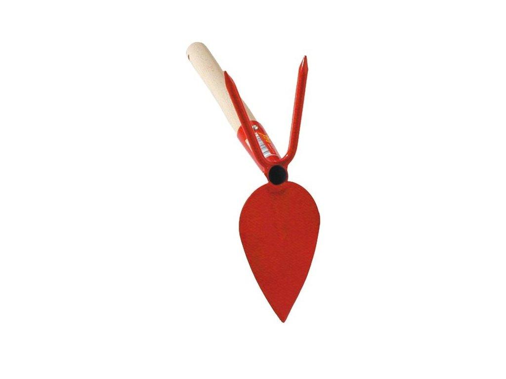 Okopávačka srdcová, 2- hrotá s násadou