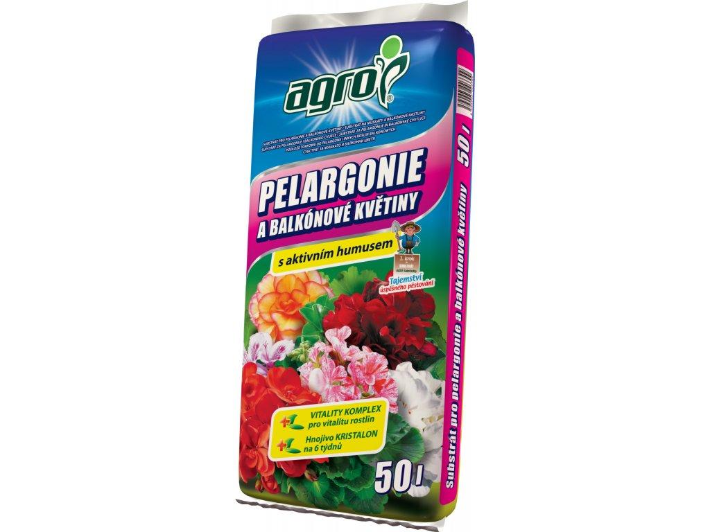 Substrát pro pelargonie a balk. květiny  50 l