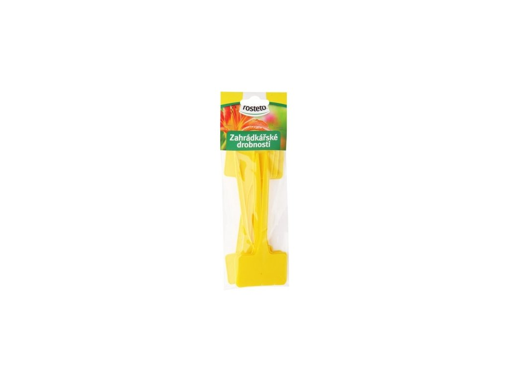 Jmenovka Rosteto - SL 135 žlutá (sada 10 ks)