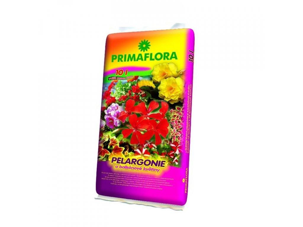 Substrát pro pelargonie (muškáty) 10 l - PRIMAFLORA