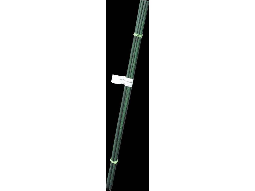 Tyčka k orchidejím 6 mm, 70 cm - 10 ks bambus - zelená