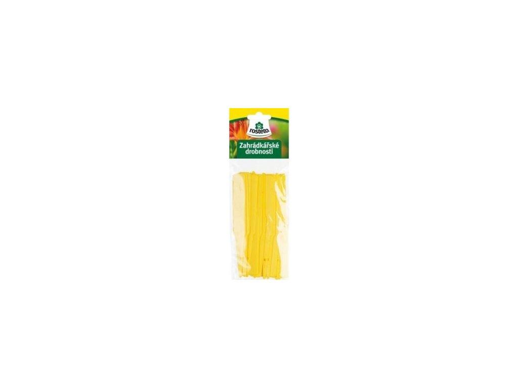 Jmenovka Rosteto - L6 žlutá (sada 15ks)