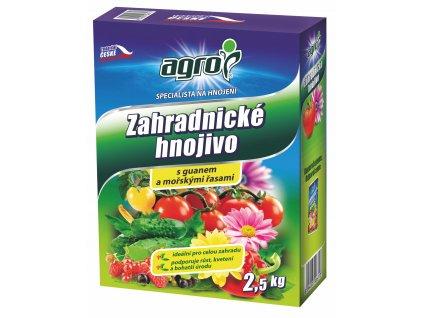 Zahradnické hnojivo s guánem a mořskými řasami 2,5 kg