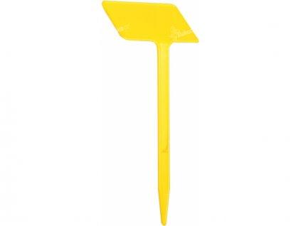 Jmenovka zapichovací SL 190 žlutá 19x7,5x5cm lomená