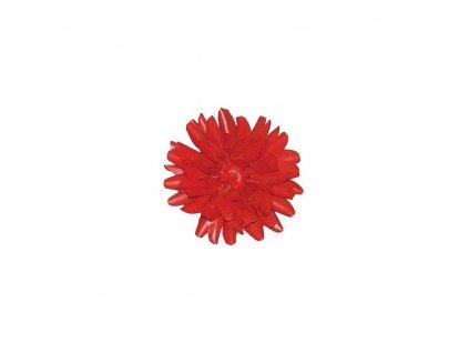 Jiřina dekor 13 cm - vosková červená