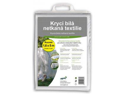 AGRO Netkaná krycí textilie 1,6 x 5 m bílá