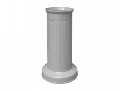 Váza hřbitovní SLOUP 12x22 šedá