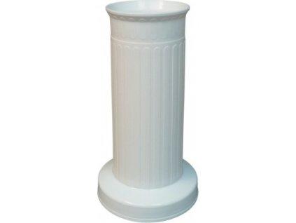 Váza hřbitovní SLOUP 12 x 22 cm bílá
