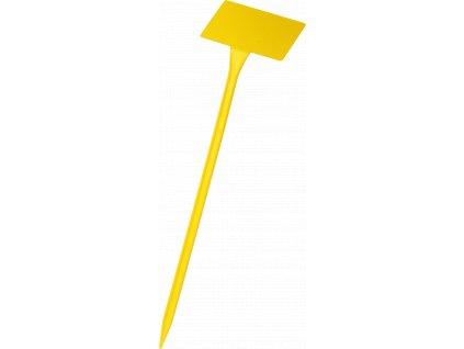 Jmenovka zapichovací SL 400 žlutá 38x10x6cm lomená