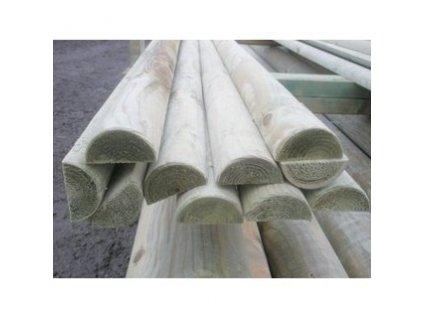 Kůl dřevěný PŮLKULÁČ  6 x 250 cm