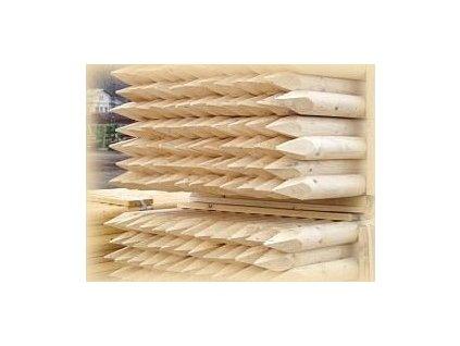 Kůl dřevěný SE ŠPICÍ 4 x 200 cm