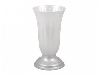 Váza hřbitovní LILIA bílá perleť
