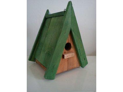 Zahnizďovací budka č. 3 (sýkorník špičatý, střecha dřevěná)