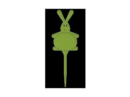 Jmenovka plastová - zajíc, 5ks - zelená