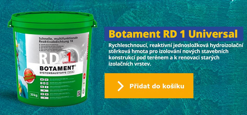 Botament RD 1 - Jedinečná jednosložková hydroizolace hydroizolace pro mnoho použití